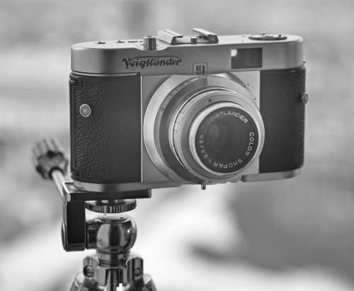 Vintage Camera Retro Black And White Photography