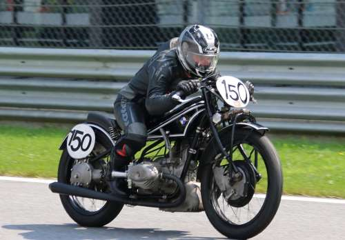 Vintage Motorcycle Race Ariel The Red Bull Ring