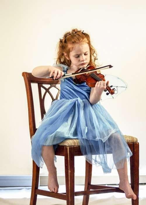 Violin Child Girl Music Instrument Musical