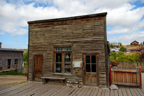 Virginia City Hangmans Building Ghost Town Abandoned