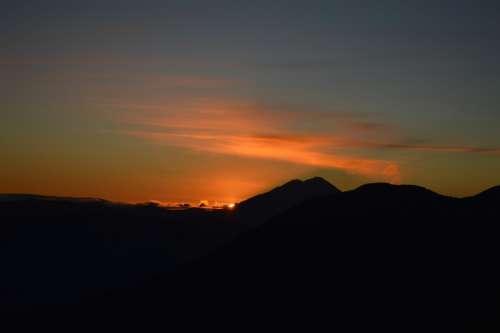 Volcano Landscape Nature Mountains