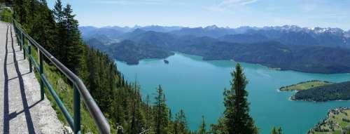 Walchensee Lake Water Alpine Blue