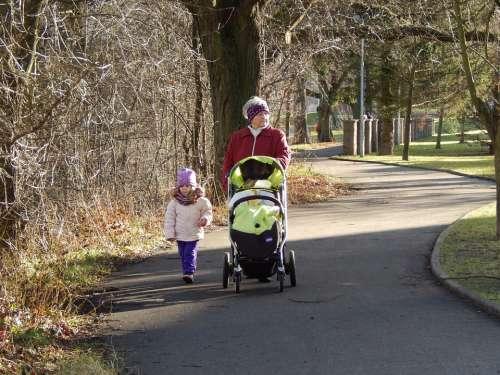 Walk Grandma Adelka Baby Girl Child Paths