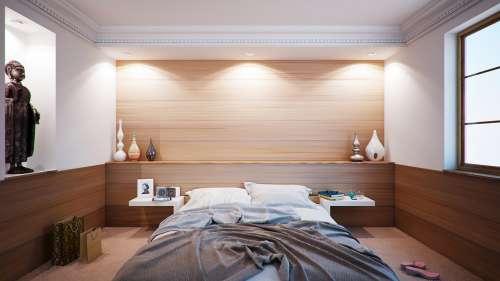 Bedroom Bed Apartment Room Interior Design