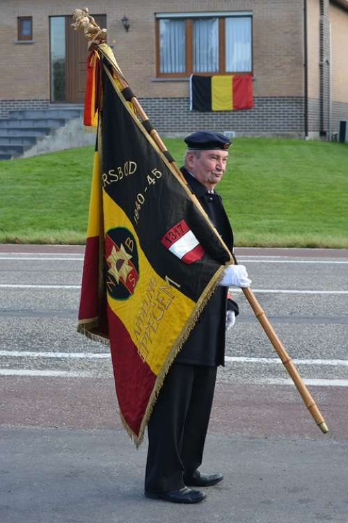 War Warrior Old Warrior Man Belgian Flag