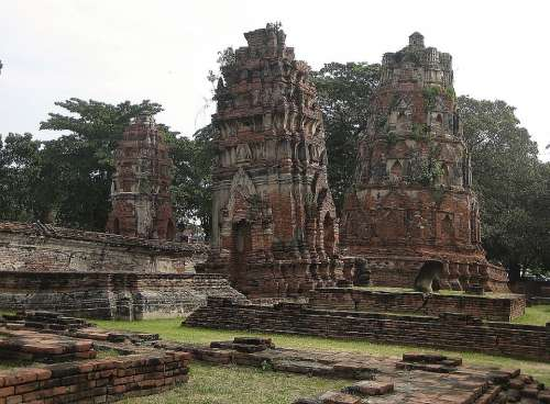 Wat Mahathat Buddhist Temple Ayutthaya Thailand