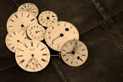 Watches Old Antique Time Indicating Wind Up