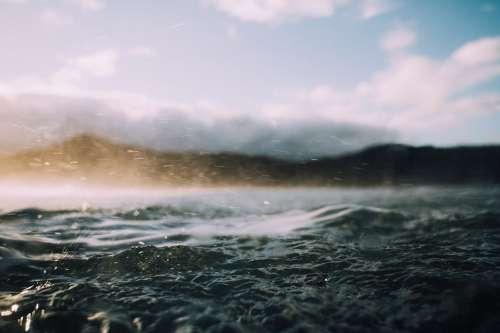 Water Waves Horizon Ocean Outdoors Rain Sea