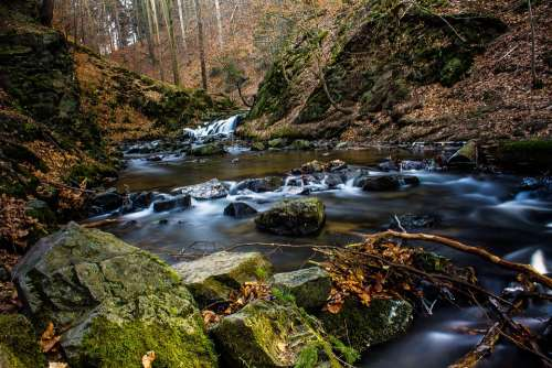 Water Photo Long Exposure Filter Waterfall Stones