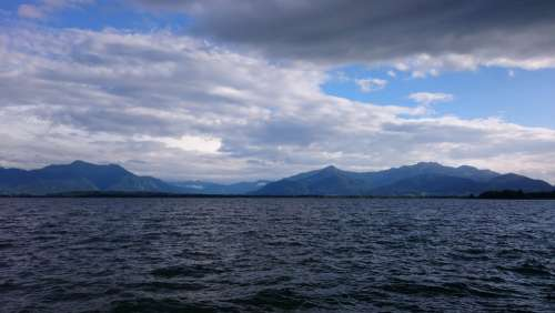 Water Mountains Chiemsee Thunderstorm Storm