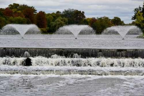 Water Fountain Urban City