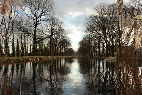 Water Landscape Waters Clouds Reflection Idyllic