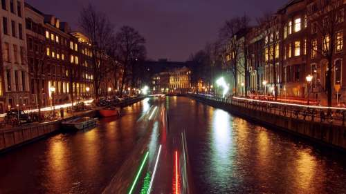Water Amsterdam Netherlands Cityscape Dutch River