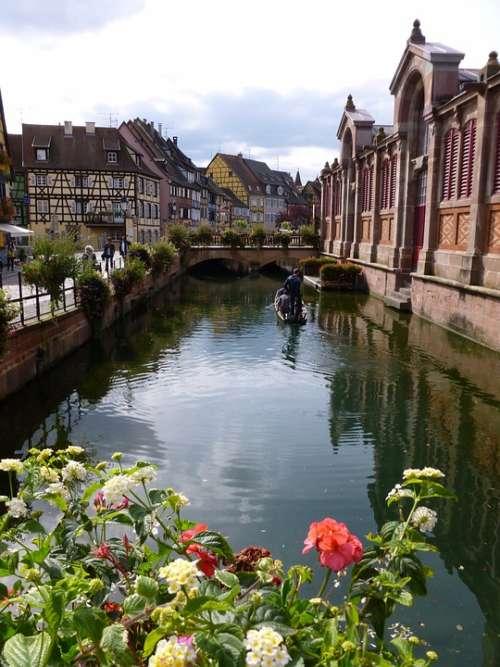 Water Alsace Colmar Flowers City Channel