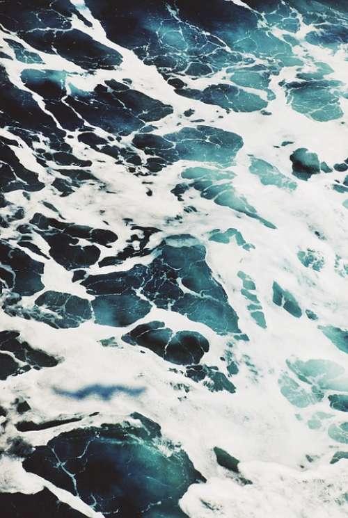Water Foam Sea Ocean Nature Depth Abyss White