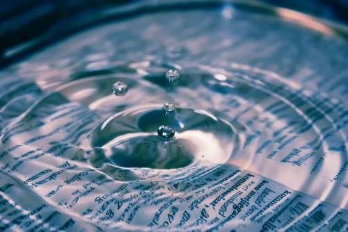 Water Drop Blue Liquid Clean Clear Splash Ripple