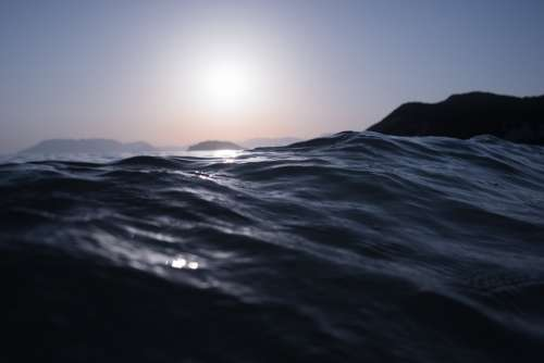 Water Waves Ripples Surface Sea Ocean Sky Nature