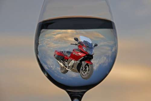 Water Glass Game Motorcycle Bmw Blue Red