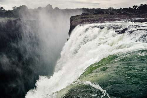 Waterfall Victoria Falls Spray Zambezi River