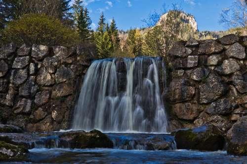 Waterfall Long Exposure Water River Bach Stone