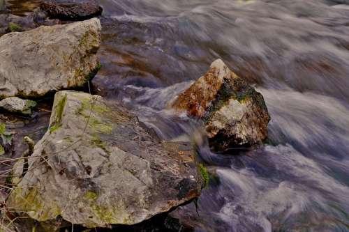 Waterfall Rock Creek Water Nature Flow Running