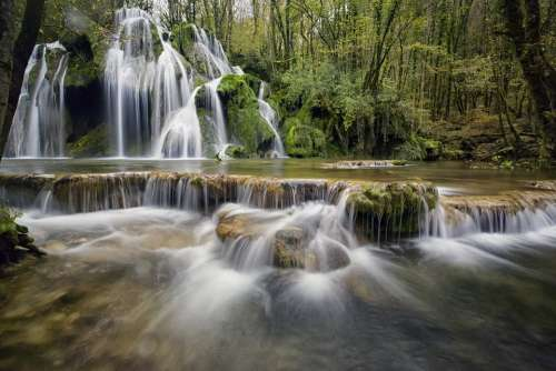 Waterfalls Waterfall Water Cascade Nature River