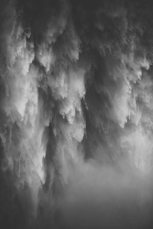 Waterfalls Water Cascade Black And White Flowing