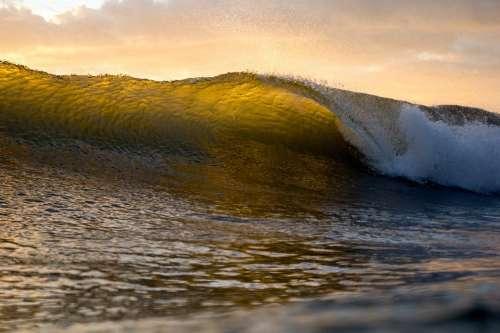 Wave Ocean Water Powerful Splash Splashing Tidal