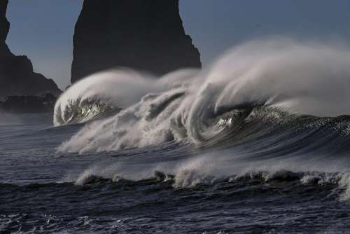 Wave Water Sea Ocean Pacific Coastline Seascape