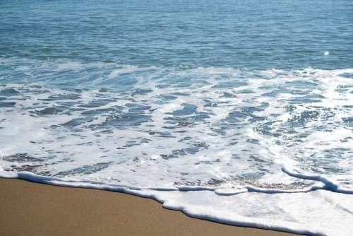 Wave Nature Beach Foam Water Marine Ocean Blue