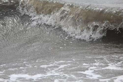 Wave Water Sea Coast Surf Spray North Sea