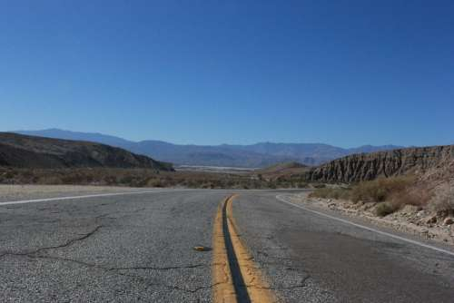 Way View Mountains Desert Landscape