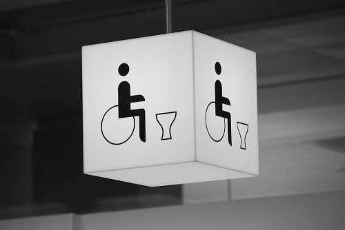 Wc Wheelchair Users Toilet Disabled Public Toilet