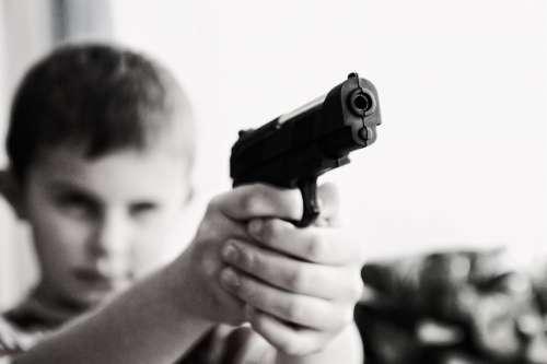 Weapon Violence Children Child Danger War Defense