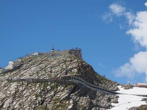 Weather Station Säntis Summit Area Mountain Peak