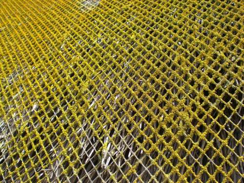 Weave Grid Web Thatched Roof
