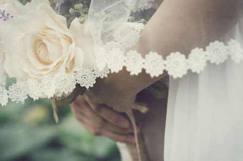 Wedding Love White Bride Romantic Marriage