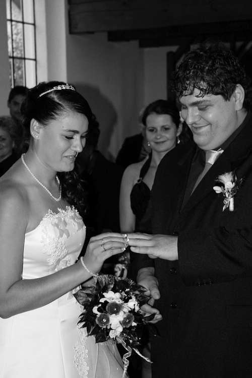 Wedding Bride Groom Witness Bouquet Bridal Bouquet