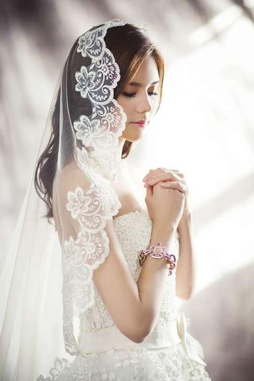 Wedding Dresses Fashion Bride Veil White Dress