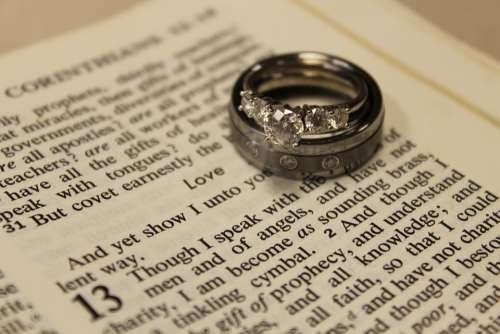 Wedding Rings Marriage Love Couple Love