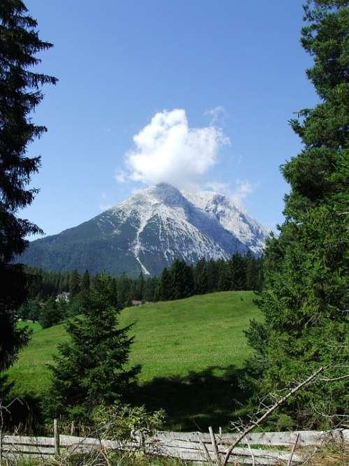 Weidach Area Tirol Mountains