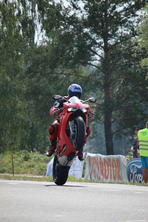 Wheelie Motorcycle Stunt Ducati