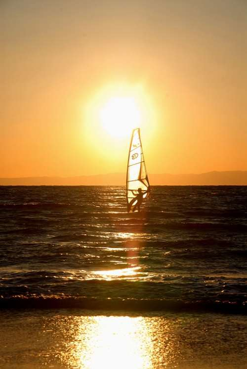 Wind Surfing Sunset Zushi