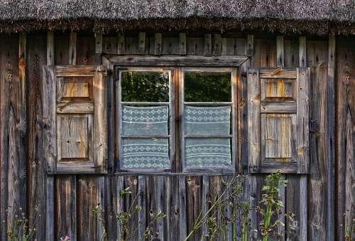 Window Wooden Windows Shutter Old Facade Woodhouse