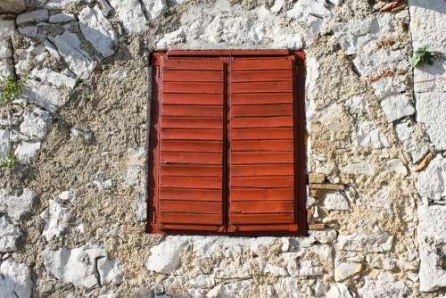 Window Shutters Window Bars Closed Wooden Windows