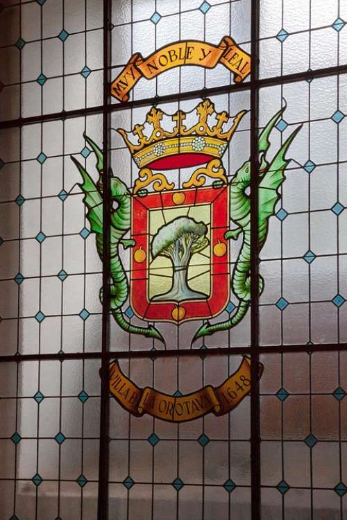 Window Coat Of Arms European Tradition Hereditary