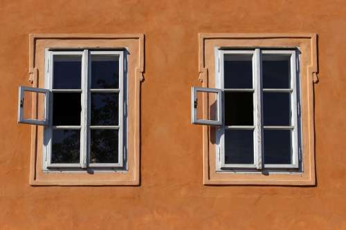Window Prague Twins Facade Wall House Two