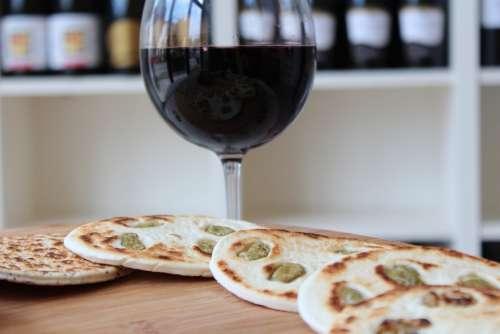 Wine Glass Piadina Red Wine