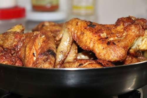 Wings Chicken Wings Chicken Wings On Plate Food Eat