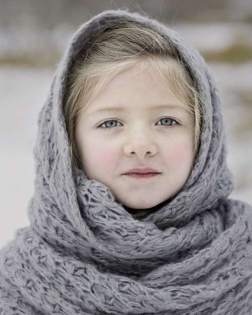 Winter Scarf Cold Season Girl Young Russian